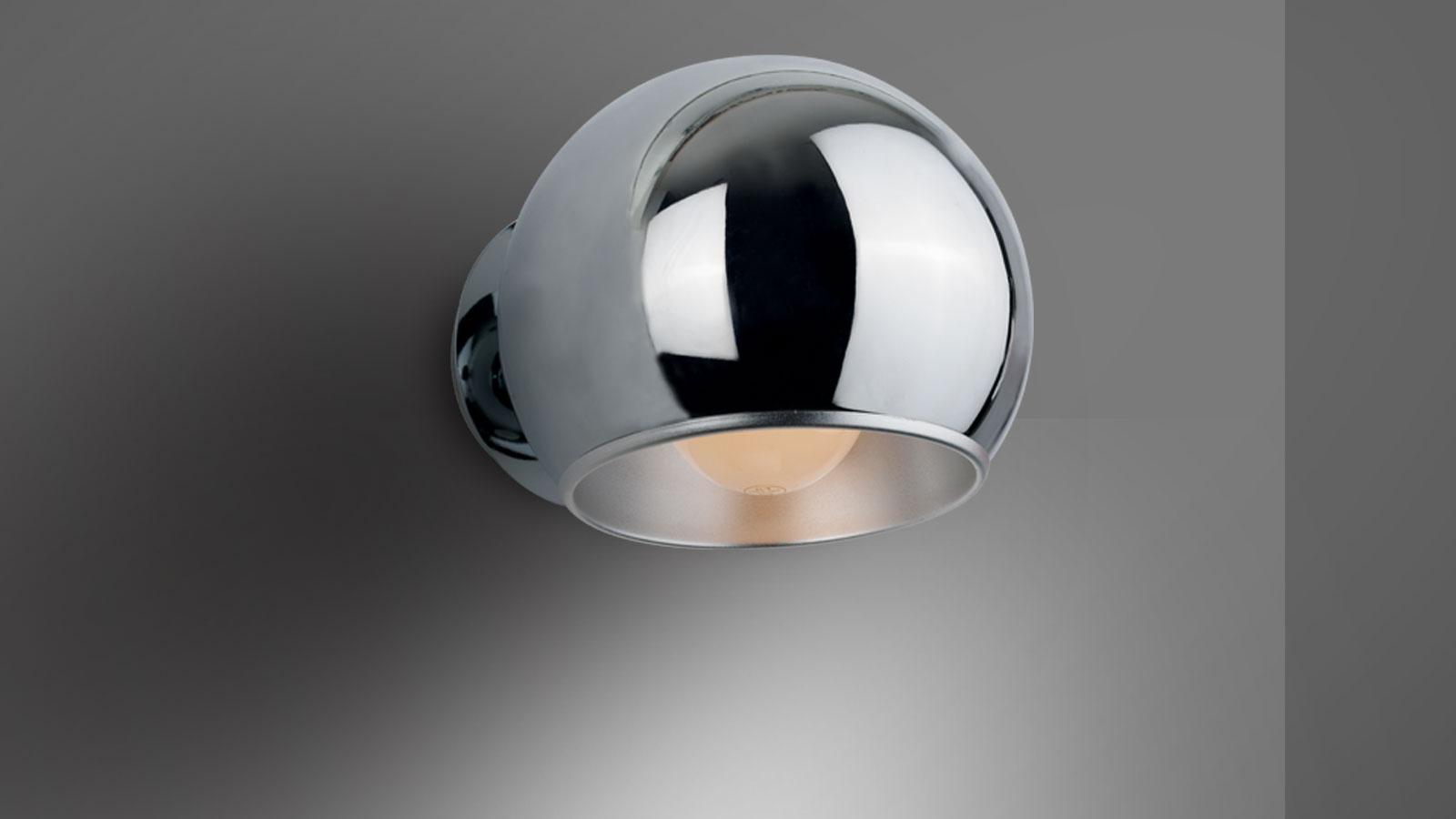 Wall Lamps Silver : Wall lamp ? PURE (Silver finish metal) - Lumiven