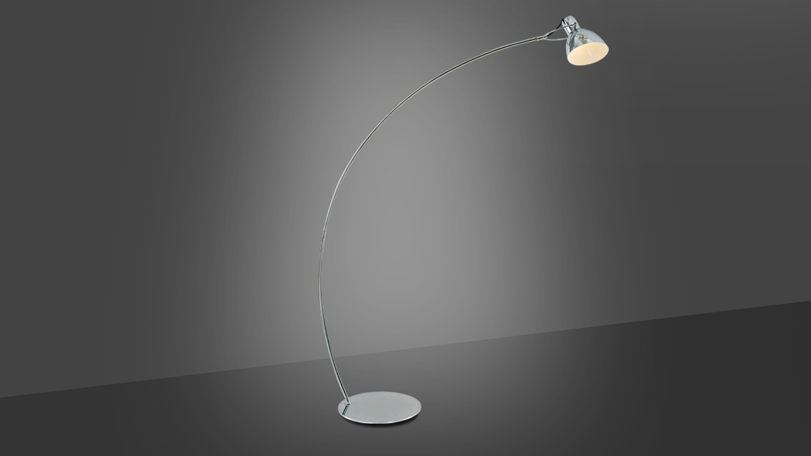 Floor lamp – WIN (Silver finish metal)